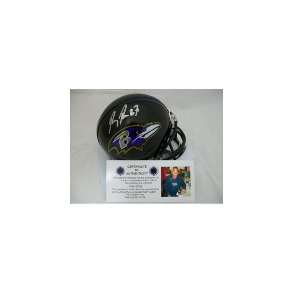 Ray Rice Autographed Helmet   Mini