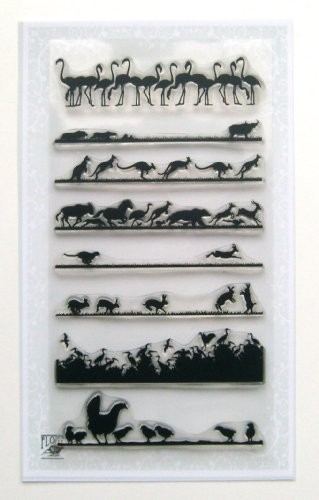 - Animal Landscapes borders 01 // Clear stamps pack (4