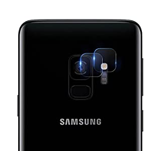 Casetego S9 Camera Lens Protector, Ultra Thin Transparent Clear Camera Tempered Glass Protector, High Definition Camera Lens Tempered Glass Screen Protector for Samsung Galaxy S9 (2 Pieces)