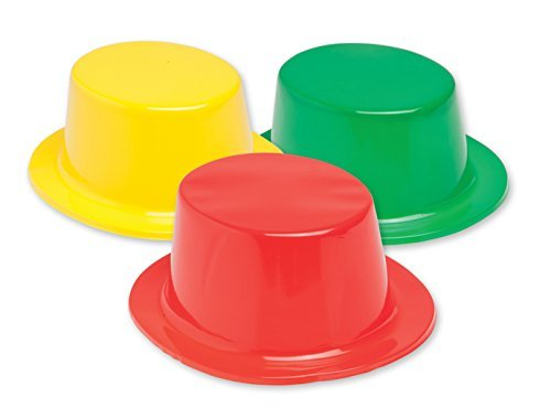 Colorful Plastic Top Hats pack