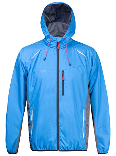 ZITY Men's Hooded Windproof Lightweight Running Jacket Breathable Cycling Wind Jacket -