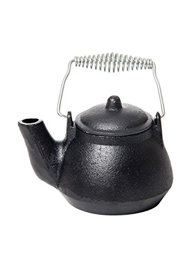 Old Mountain Mini Tea Kettle, 1.5 Cups, Silver/Wood Handle