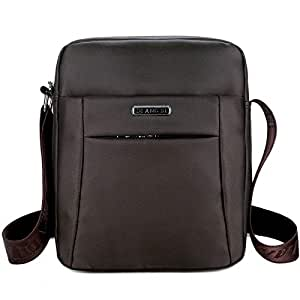 DIEBELLAU Fashion Waterproof Oxford Cloth Shoulder Messenger Bag Outdoor Simple Travel Men's Backpack (Color : Brown)
