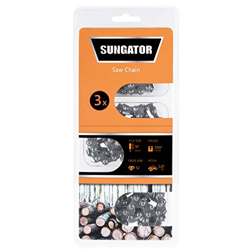SUNGATOR 3-Pack 14 Inch Chainsaw Chain SG-S52, 3/8