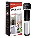 FEBOTE Sous Vide Cooker Immersion Circulator, Fast Heating Meat Cooking (1000W), Accurate Temperature Control, 0-99 Hours Timer, Free Vacuum Seal Bags and Pump, Cooking as Pro Chef