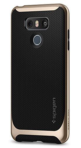 Spigen Neo Hybrid LG G6 Case Herringbone with Flexible Inner Protection and Reinforced Hard Bumper Frame for LG G6