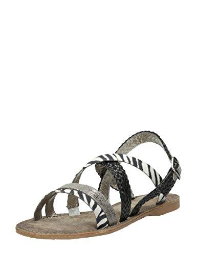 Mote Sebra Black Sandaler Kvinners Choizz Rosa afR5Snnq