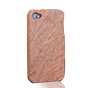 SOL Bamboo Wood RoseWood Protective Case Cover for iPhone 4/4S