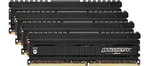 Ballistix Elite 16GB Kit (4GBx4) DDR4 3200 MT/s (PC4-25600) DIMM 288-Pin Memory - BLE4K4G4D32AEEA