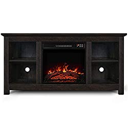 "Belleze 50 Inch Farmhouse Wood TV Console for TV's up to 55"" Living Room Storage, Ashland Pine by Belleze"