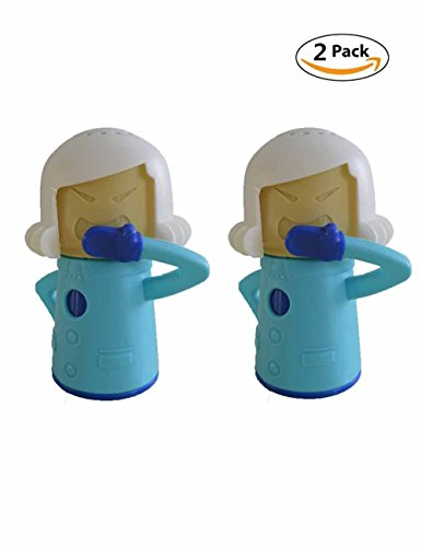 Fridge Cleaner Cool Mama Easily Cleans the Crud In Minutes. Angry-Mama freezer fresh holder Cleans and Disinfects With Vinegar and Water for Home or Office Kitchens (2, Blue)