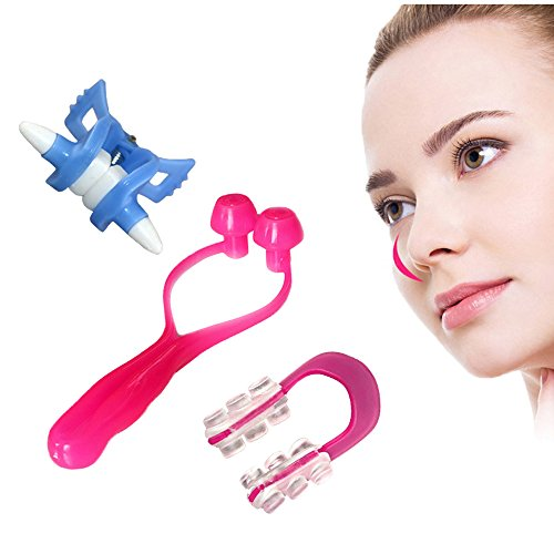 Enshey 3PCS Nose Shaping Clip High Qulaity Magic Nose Up Lifting Shaping Shaper Clipper Bridge Straightening Beauty Clip, Soft and Non-toxic, Make Your Nose Just the way you want - Wide Of Bridge Nose