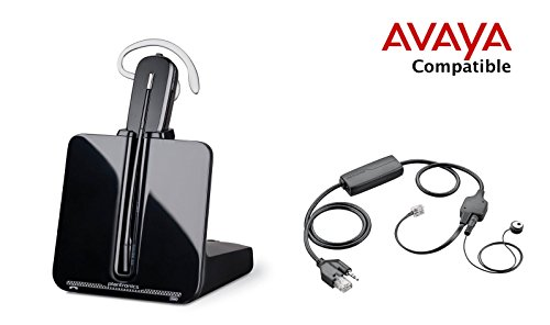 Avaya Compatible Plantronics CS540 VoIP Wireless Headset Bundle with Electronic Remote Answer|End and Ring alert (EHS) for Avaya Phones: 1600, 9600 IP Phones: 1608, 1616, 9601, 9608, 9610, 9611, 9611G, 9620, 9620C, 9620L, 9621, 9630, 9640, 9640G, 9641, 9650, 9650C, 9670