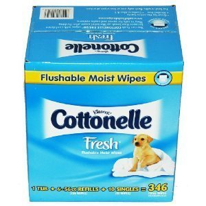 Kleenex Cottonelle Fresh Flushable Moist Wipes - 346 ct Infant Baby Wipes Fresh Smell Alcohol Free - Kleenex Cottonelle Wipes