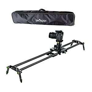 "IMORDEN 32""/80cm Carbon Fiber Video Stabilization Camera Slider(Up to 6kg/13.2lbs)DSLR Rail Dolly Track Film Making Kit for Youtuber, Works with Canon, Sony, Nikon Camera,Phone, Gopro and Tripod"