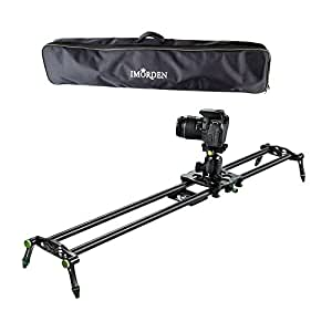 """IMORDEN 32""""/80cm Carbon Fiber Video Stabilization Camera Slider(Up to 6kg/13.2lbs)DSLR Rail Dolly Track Film Making Kit for Youtuber, Works with Canon, Sony, Nikon Camera,Phone, Gopro and Tripod"""