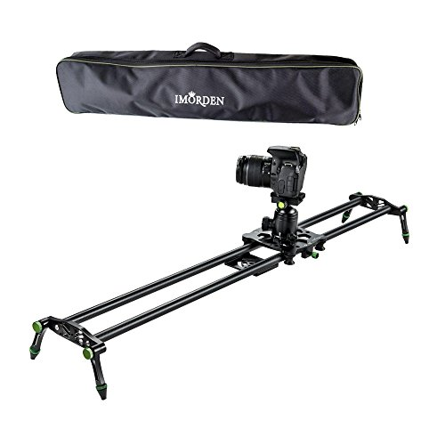 IMORDEN 32''/80cm Carbon Fiber Video Stabilization Camera Slider(Up to 6kg/13.2lbs) DSLR Rail Dolly Track Film Making Kit for Youtuber, Works with Canon, Sony, Nikon Camera,Phone, Gopro and Tripod by IMORDEN