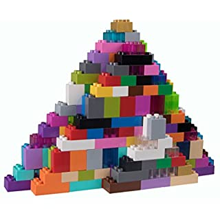 Strictly Briks - Big Briks Set - 204 Pieces - 24 Rainbow Colors - Compatible with All Major Brands - Large Building Blocks for Ages 3 and Up