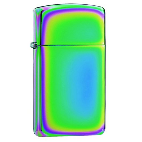 Zippo Spectrum(Tm) Rainbow Of Colors Design Slim Style Lighter - Chrome Plated Finish ()