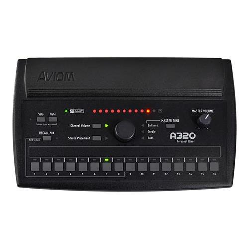 Aviom A320 Personal Mixer, Monitor 16 Mono or Stereo Sources, Eight Customizable Mix Presets, 3-Band Tone Control by Aviom