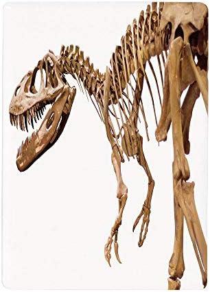 壁紙 絵画風ポスター 恐竜、考古学博物館テーマワイルドティラノサウルスレックススケルトンジュラ紀、ライトキャラメルホワイト50x80cm 風景 いろいろ