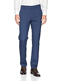 Men's Glen Plaid Slim Fit Flat Front Dress Pant