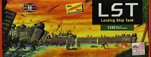 Lindberg 1:245 LST Landing Ship Tank WWII D-Day Plastic Model Kit (Wwii Ship)