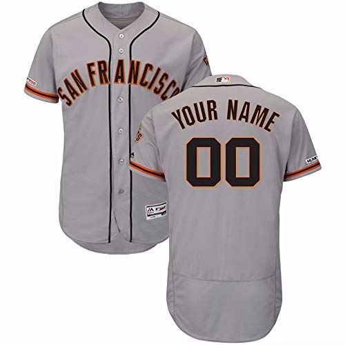 Personalized Giants Jersey - Nisaki Custom Player's Name Baseball Jersey T-Shirt for Adult & Youth, Personalized 2019 Baseball Jerseys Sports T-Shirts, Custom All Baseball Team Jerseys