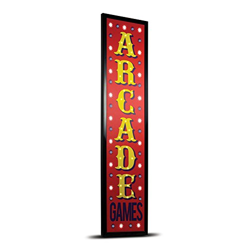 American Art Decor Arcade Games Framed Light Up LED Sign for Game Room Bar Man Cave Garage