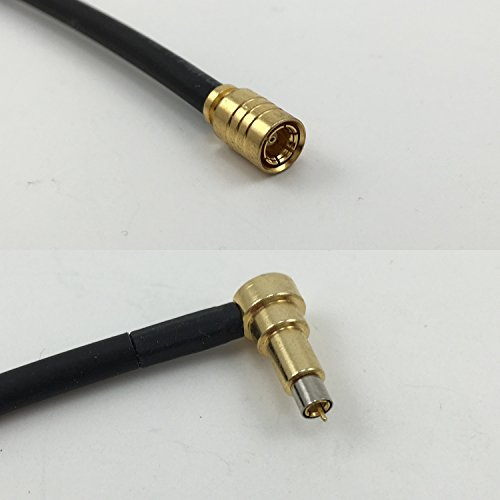 - 6 inch RG188 SMB FEMALE to MS-156 MALE ANGLE Pigtail Jumper RF coaxial cable 50ohm High Quality Quick USA Shipping