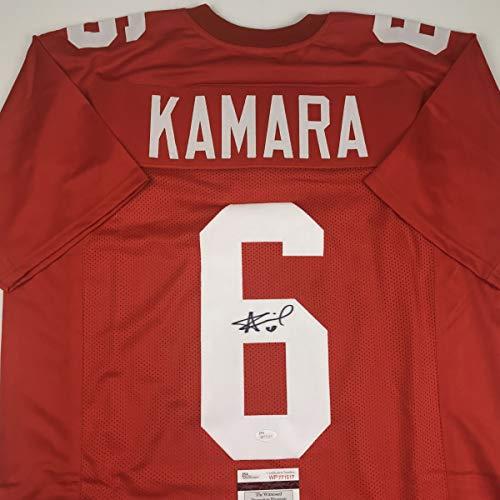 - Autographed/Signed Alvin Kamara Tennessee Orange College Football Jersey JSA COA
