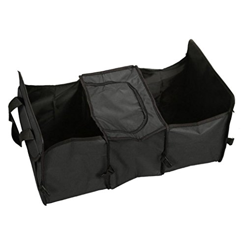 Price comparison product image Iuhan Fashion 3 Compartment Car Truck Collapsible Storage Basket Organizer Insulated Cooler