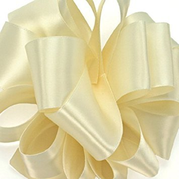 Offray Double-Face Satin Ribbon 1.5 Inch 50 Yards Ivory, Several Colors ()