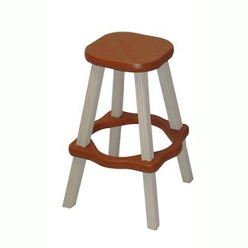 QCA Spas LABS26R Spa Side Stool, 26-Inch, Red Wood