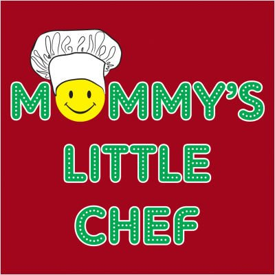 ''Little Chef'' Adjustable Apron for Kids; Red