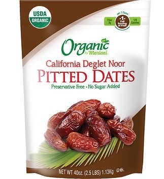 Organic California Deglet Noor Pitted Dates 2.5lb