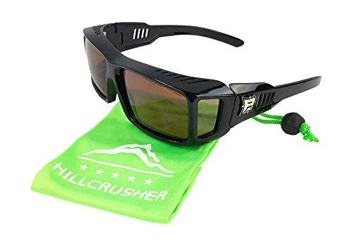 Fits Over Prescription Glasses- Driving -Hiking -XL Polarized Rectangular Shape Sunglasses