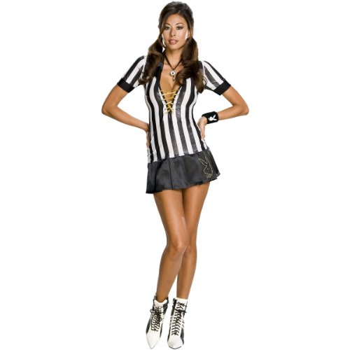 Playboy Referee Costumes - Secret Wishes Women's Playboy Adult Referee