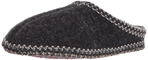 Haflinger Women's AS Wool Indoor Slipper,Charcoal Polen,37 M EU / 6 B(M)
