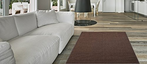anti-bacterial-rubber-back-doormat-non-skid-slip-rug-18x31-solid-brown-plain-color-interior-entrance