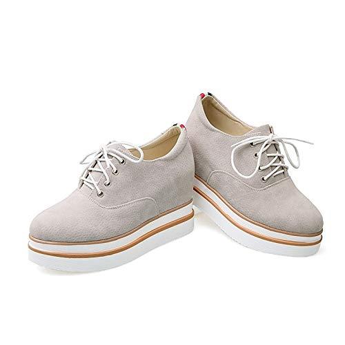 ZHZNVX nero Scarpe poliuretano grigio PU Gray Estate da Tacco Primavera Comfort donna piatto Sneakers ffRrqnHxP