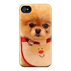 New Diy Design Cute Dog Christmas For Iphone 4/4s Cases Comfortable For Lovers And Friends For Christmas Gifts