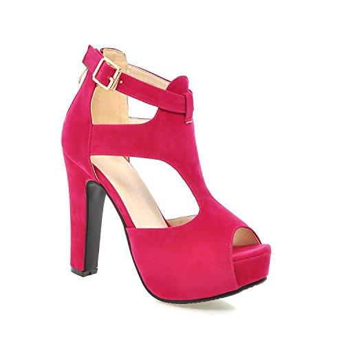 con sandali e vertiginoso Moda impermeabili piattaforma peachblow camoscio ZHZNVX pattini scamosciata in pelle nuovi Roma con tacco della alto estivo tacco tacco 5IOqz