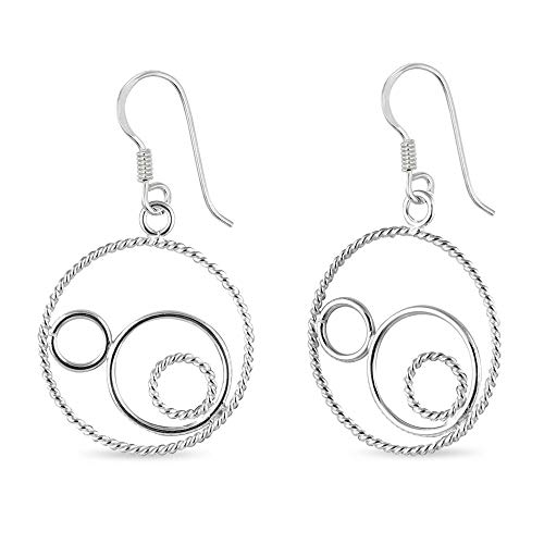 LeCalla Sterling Silver Valentines Day Jewelry Figure Eight Dangle Earrings for Women