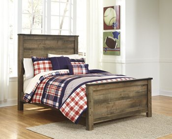 Ashley Trinell Queen Panel Headboard in Brown (Barn Wood Headboard compare prices)