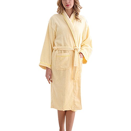 Soft Dressing Zhhlaixing Gown Robes Summer Luxury Lovers Super Pigiama Neutral Yellow Light Flannel RW8x8XSqwZ