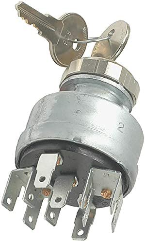 Pollak 31-297 3 Position Ignition Starter Switch with Momentary Start and Universal Type Die-Cast Housing