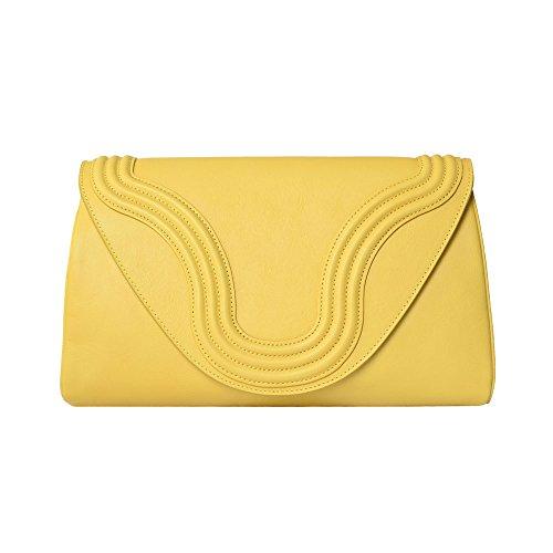 BORGENNI - Cartera de mano para mujer amarillo