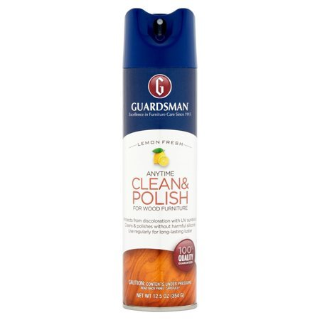 Guardsman Clean & Polish For Wood Furniture - Lemon Fresh - 12.5 oz - Silicone Free, UV Protection - Pack of 2