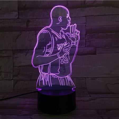 ZLXXYD Night Light Basketball Player Section USB 3D Led Night Light Touch Sensor 7 Color Change Table Lamp Bedside Birthday Gift